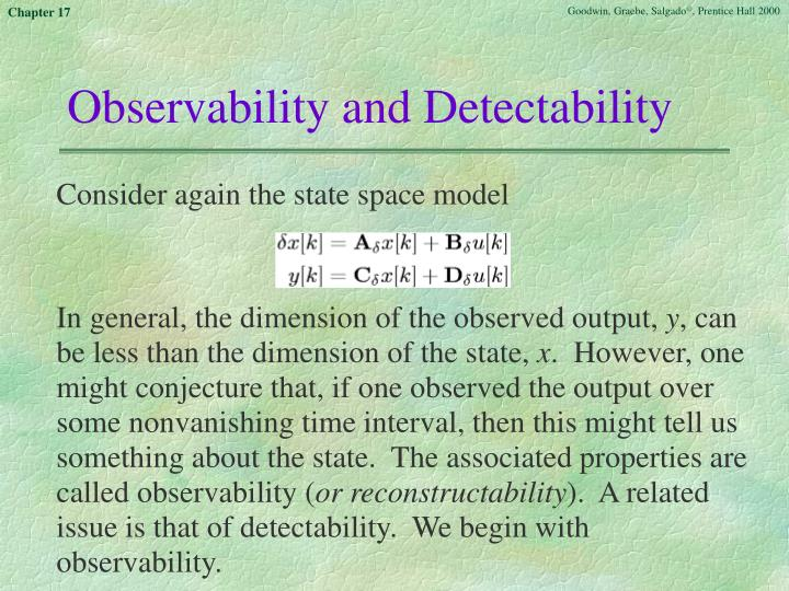 Observability and Detectability