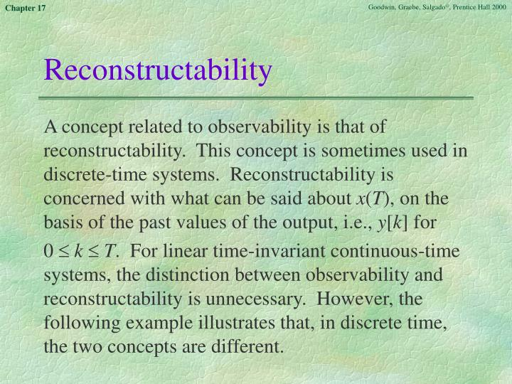 Reconstructability