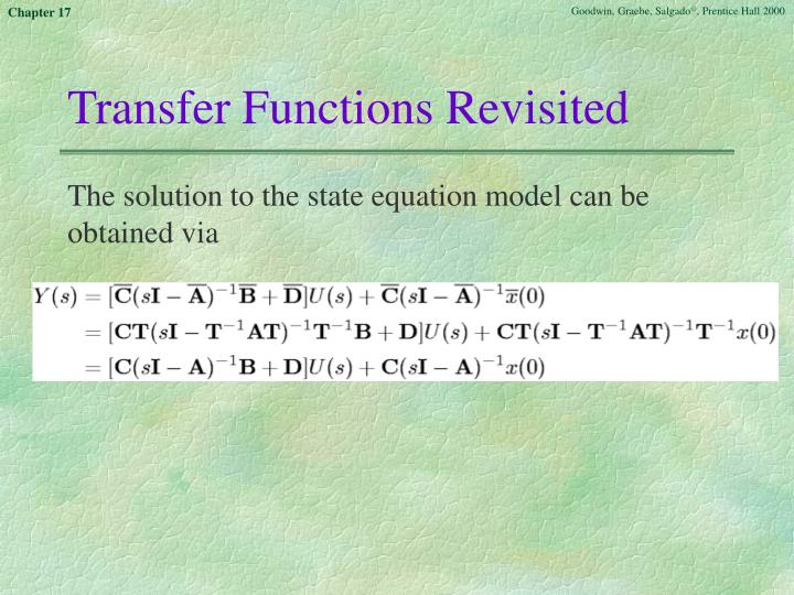 Transfer Functions Revisited