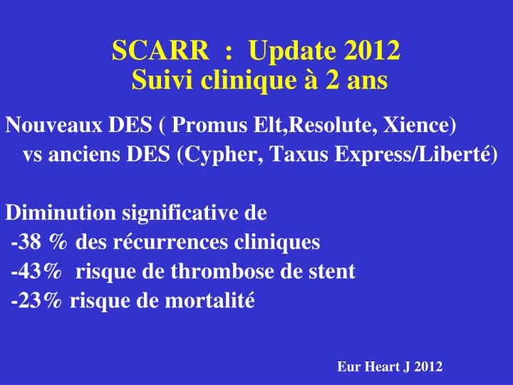 SCARR  :  Update 2012