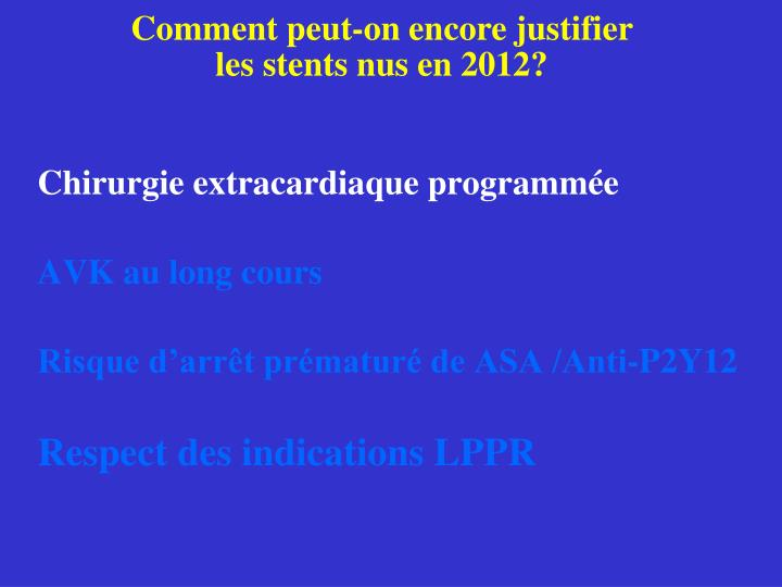 Chirurgie extracardiaque programmée
