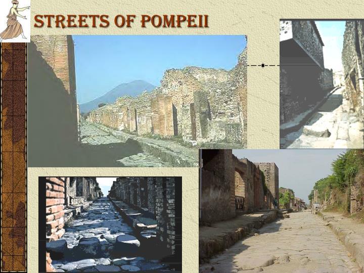 STREETS OF POMPEII