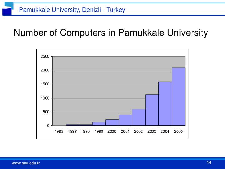 Number of Computers in Pamukkale University