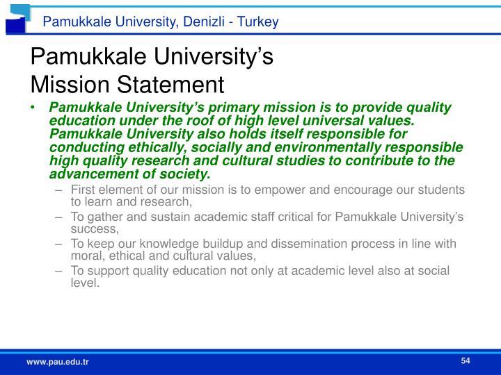 Pamukkale University's