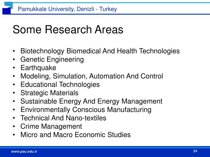 Some Research Areas