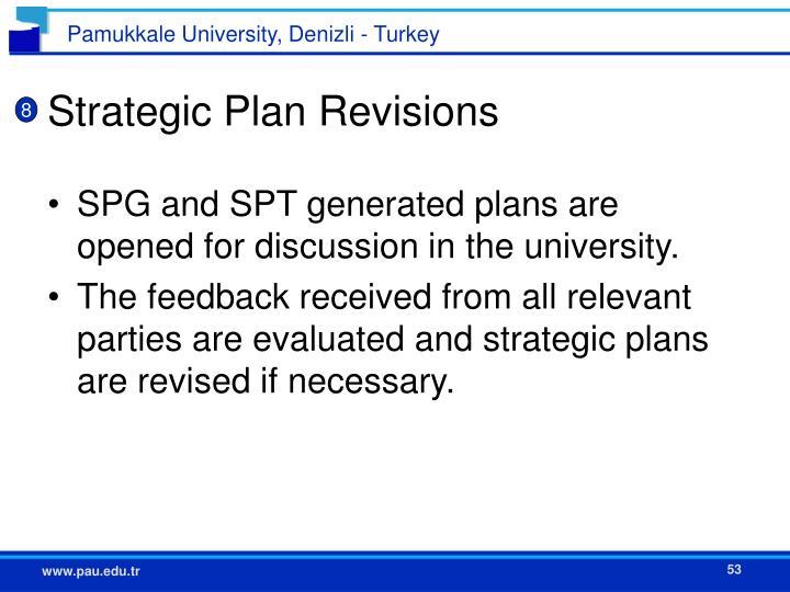 Strategic Plan Revisions