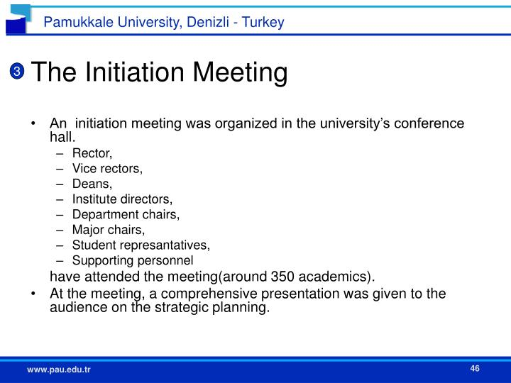 The Initiation Meeting