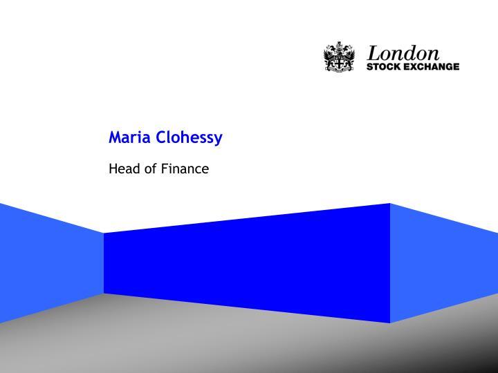 Maria Clohessy