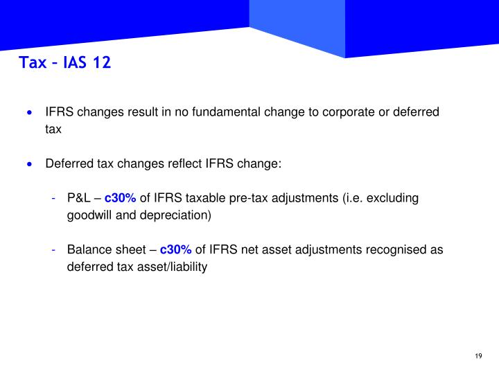 Tax – IAS 12