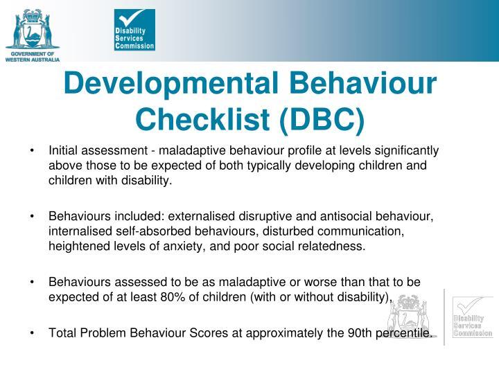 Developmental Behaviour Checklist (DBC)