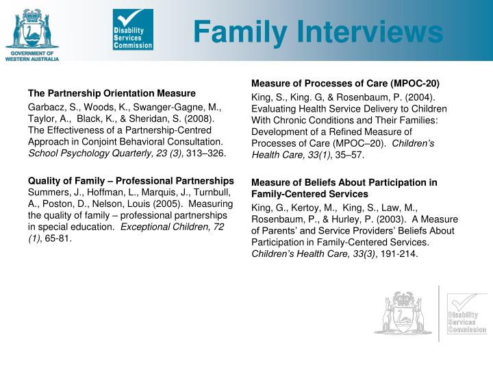 Family Interviews