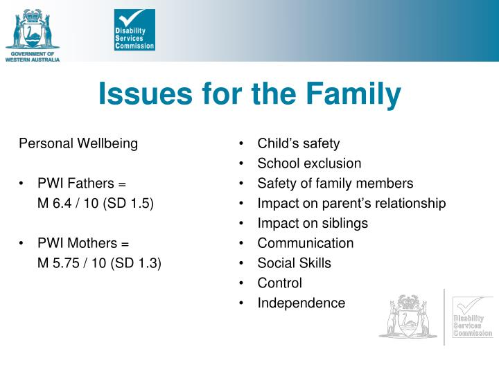 Issues for the Family