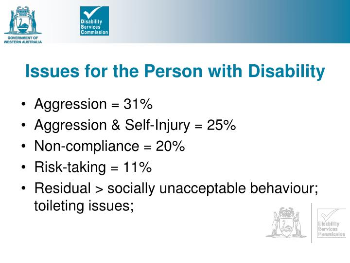 Issues for the Person with Disability