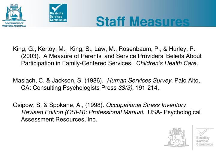 Staff Measures