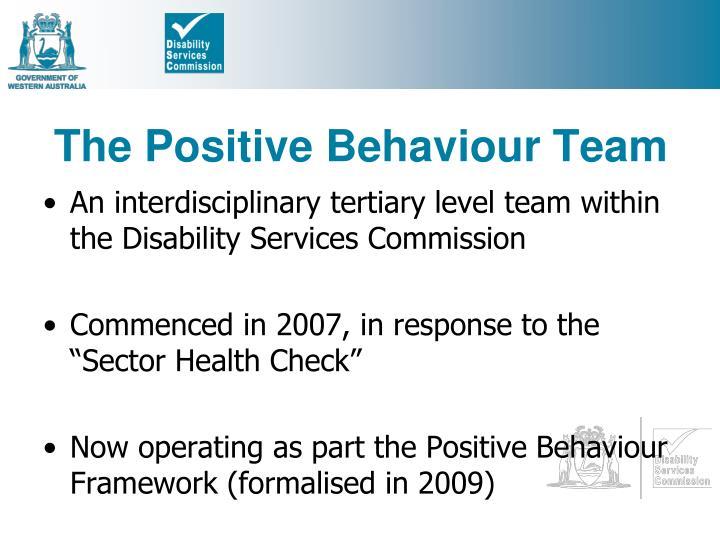 The Positive Behaviour Team