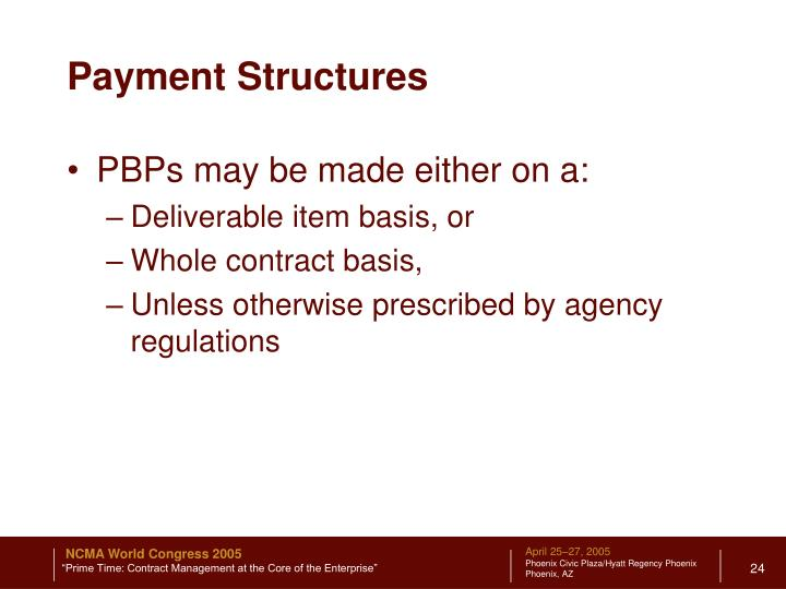 Payment Structures