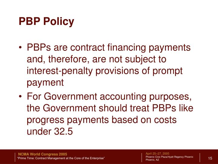PBP Policy