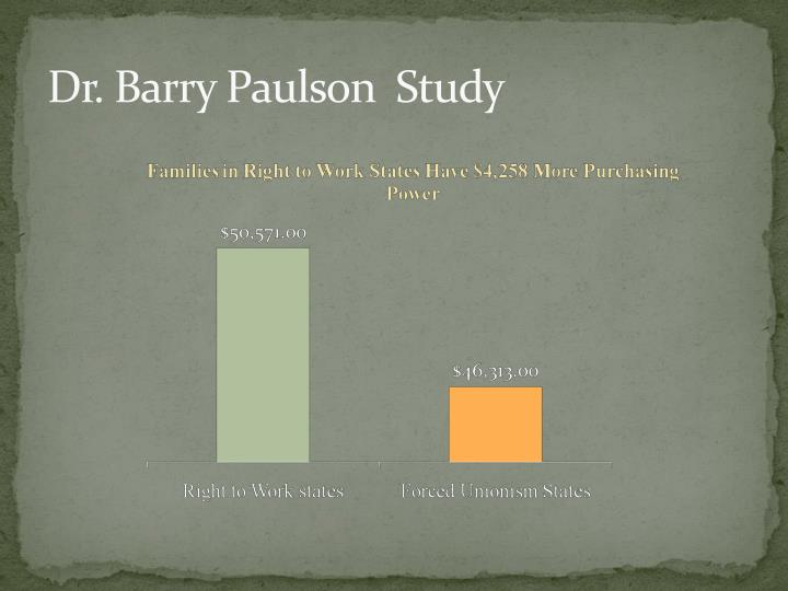 Dr. Barry Paulson  Study