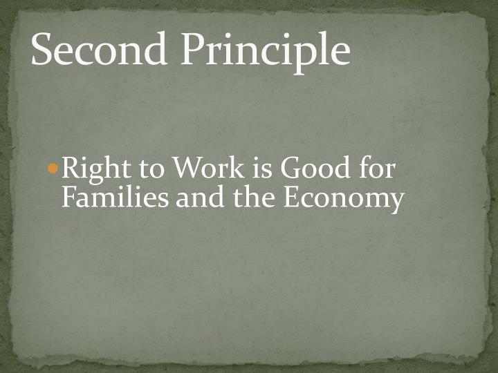 Second Principle