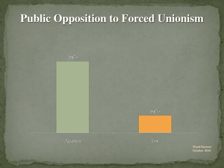 Public Opposition to Forced Unionism