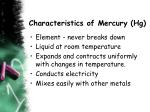 characteristics of mercury hg
