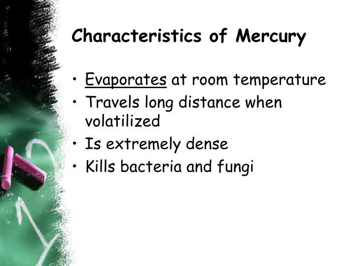 Characteristics of Mercury