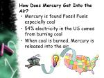 how does mercury get into the air