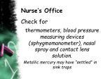 nurse s office