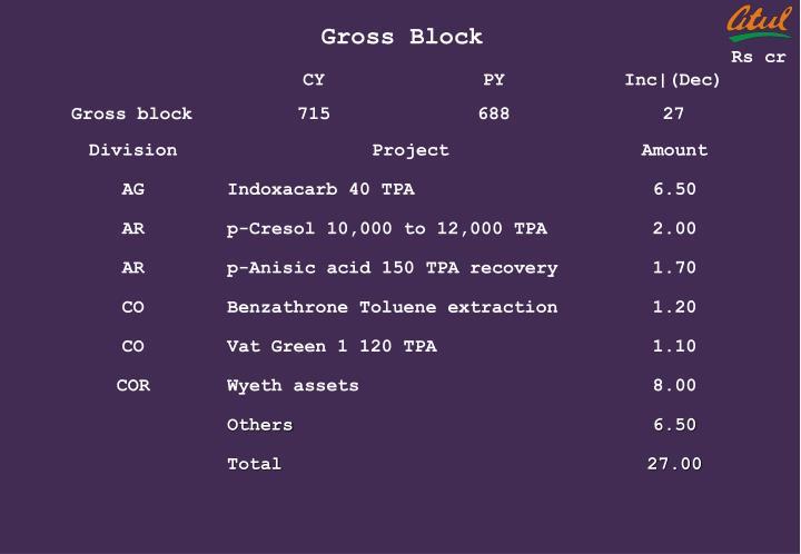 Gross Block