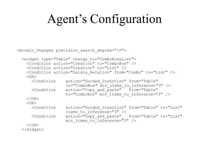 Agent's Configuration