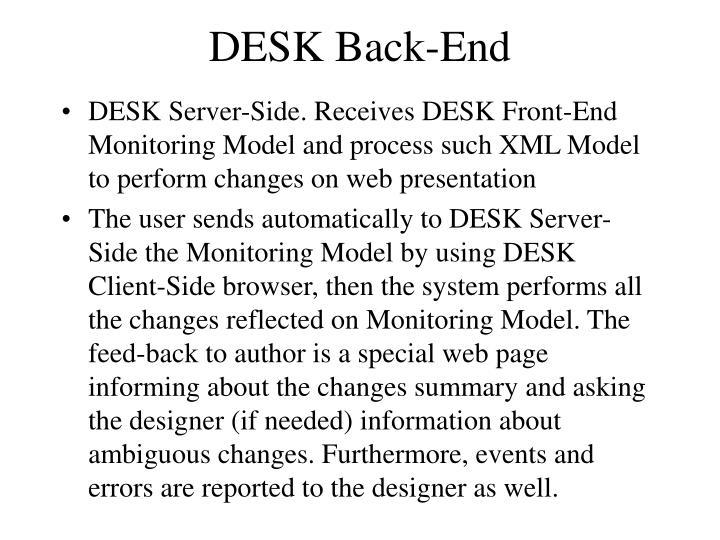 DESK Back-End