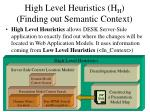 high level heuristics h h finding out semantic context