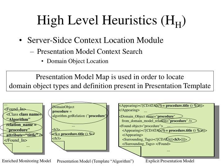 High Level Heuristics (H