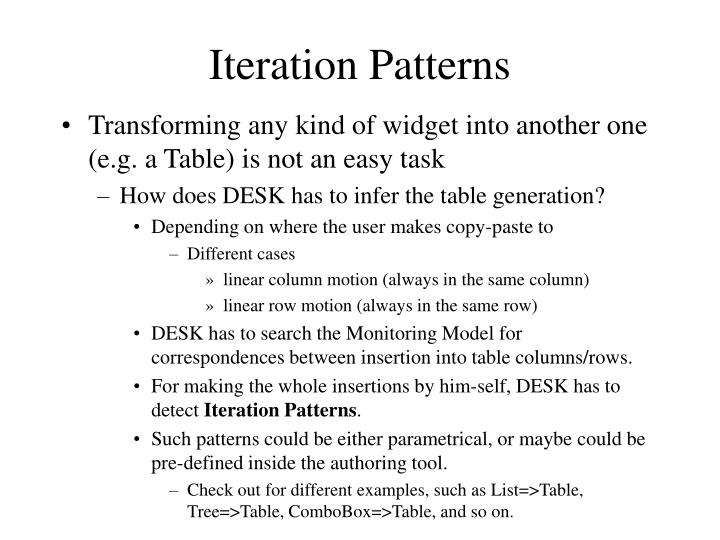 Iteration Patterns