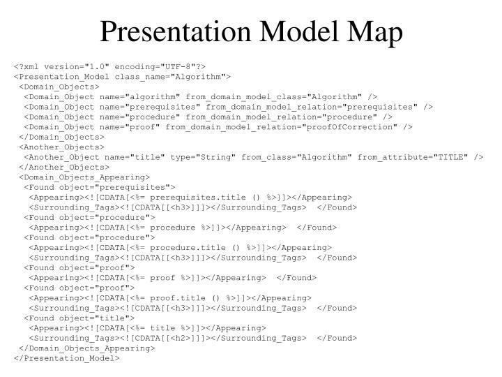 Presentation Model Map