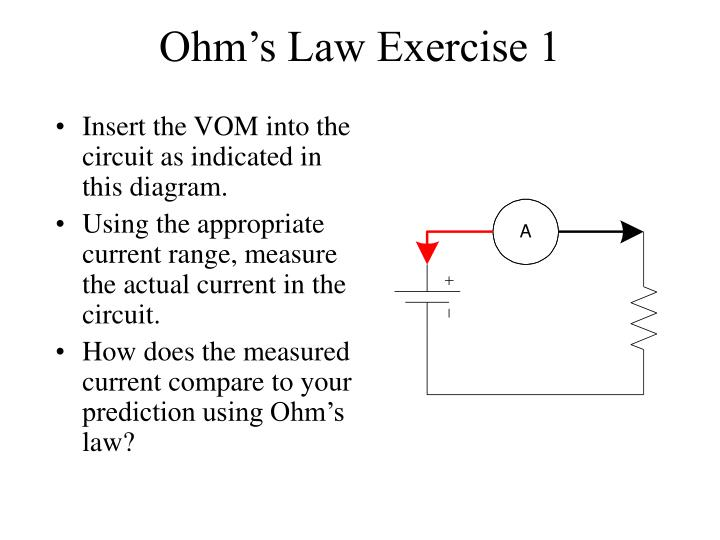 Ohm's Law Exercise 1