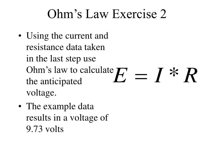 Ohm's Law Exercise 2