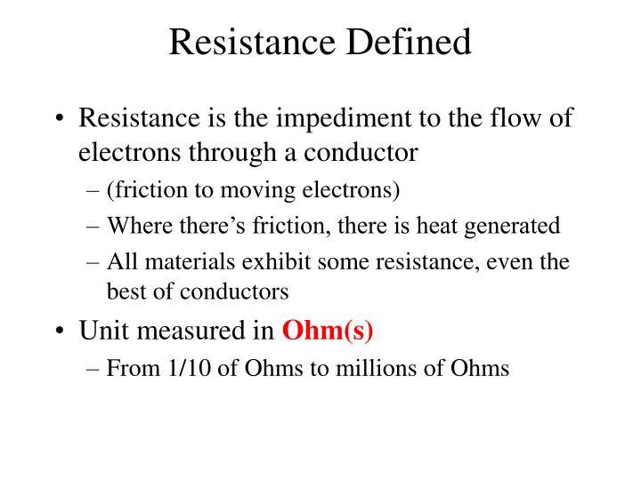Resistance Defined