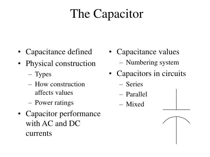 Capacitance defined
