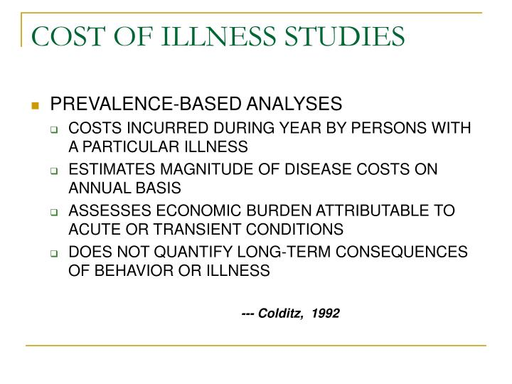 cost of illness studies
