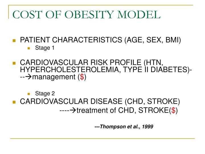 COST OF OBESITY MODEL