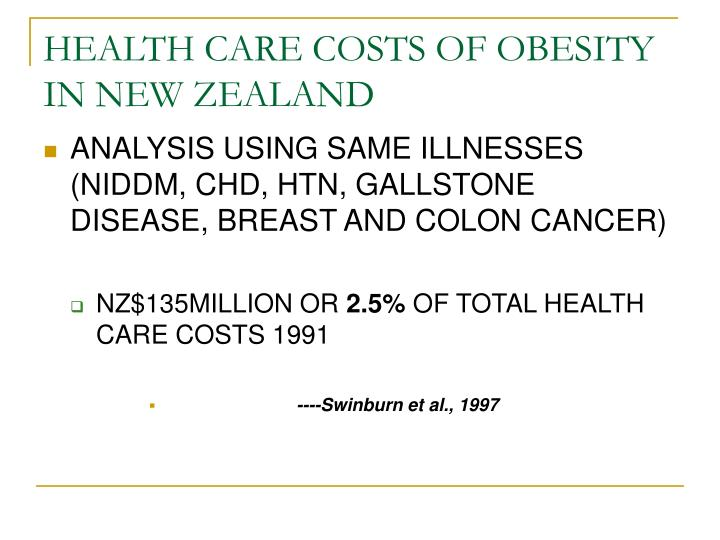 HEALTH CARE COSTS OF OBESITY IN NEW ZEALAND