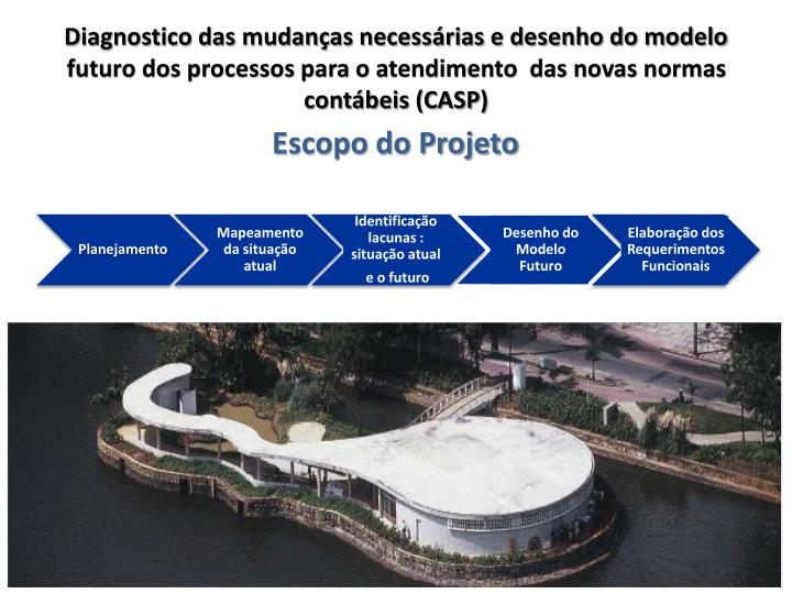 Diagnostico das mudanças necessárias e desenho do modelo futuro dos processos para o atendimento  das novas normas contábeis (CASP)