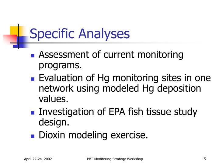 Specific Analyses
