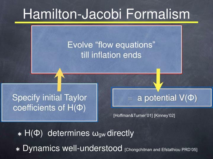 Hamilton-Jacobi Formalism