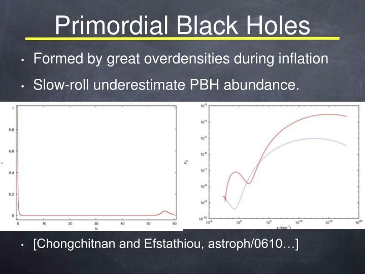 Primordial Black Holes
