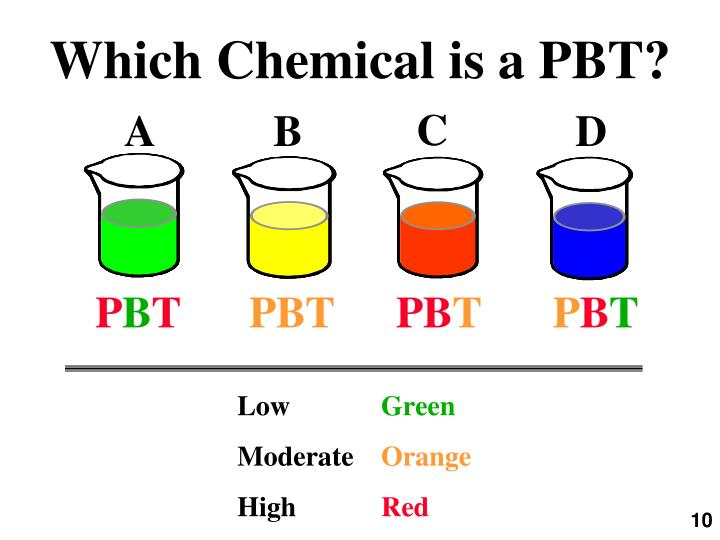 Which Chemical is a PBT?