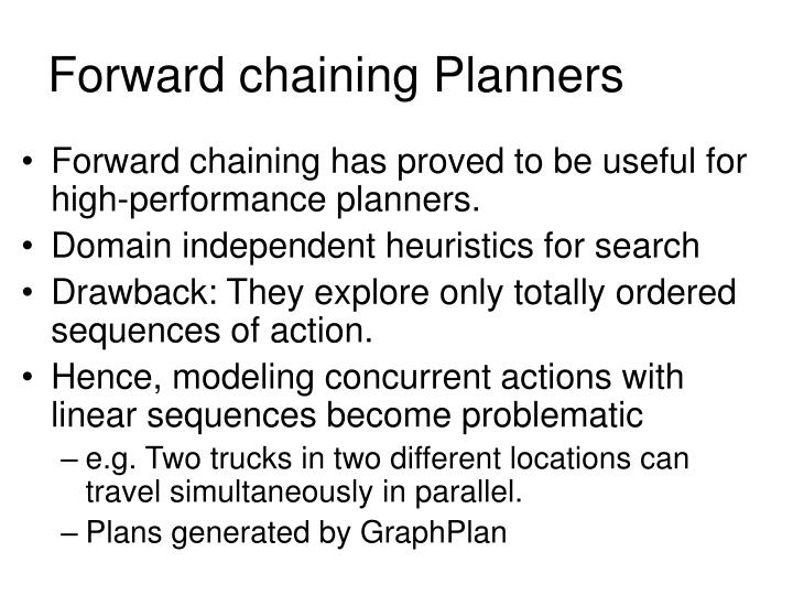 Forward chaining Planners