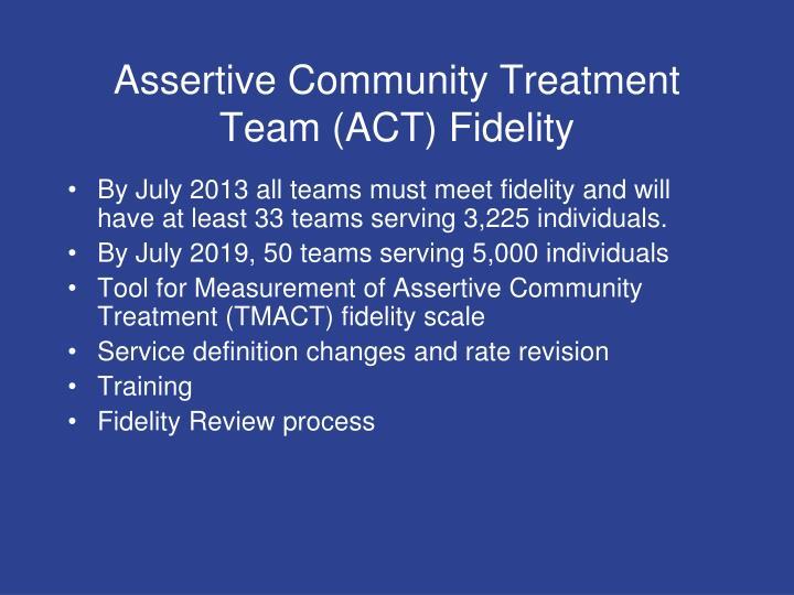 Assertive Community Treatment Team (ACT) Fidelity