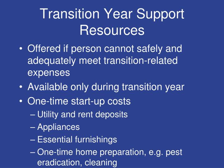 Transition Year Support Resources